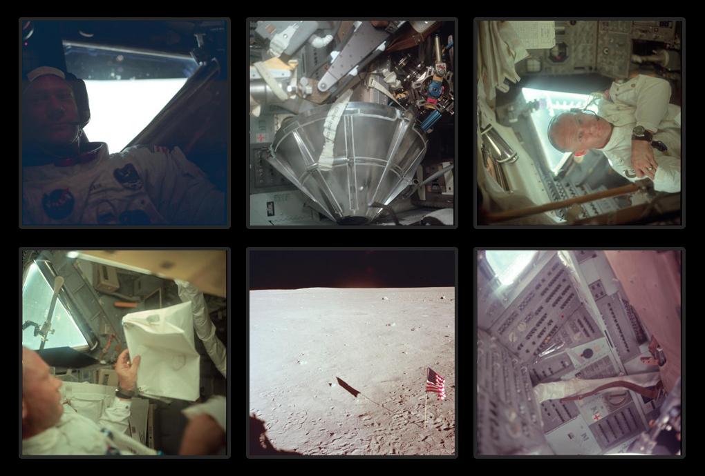 Базз Олдрин на борту Аполлон-11