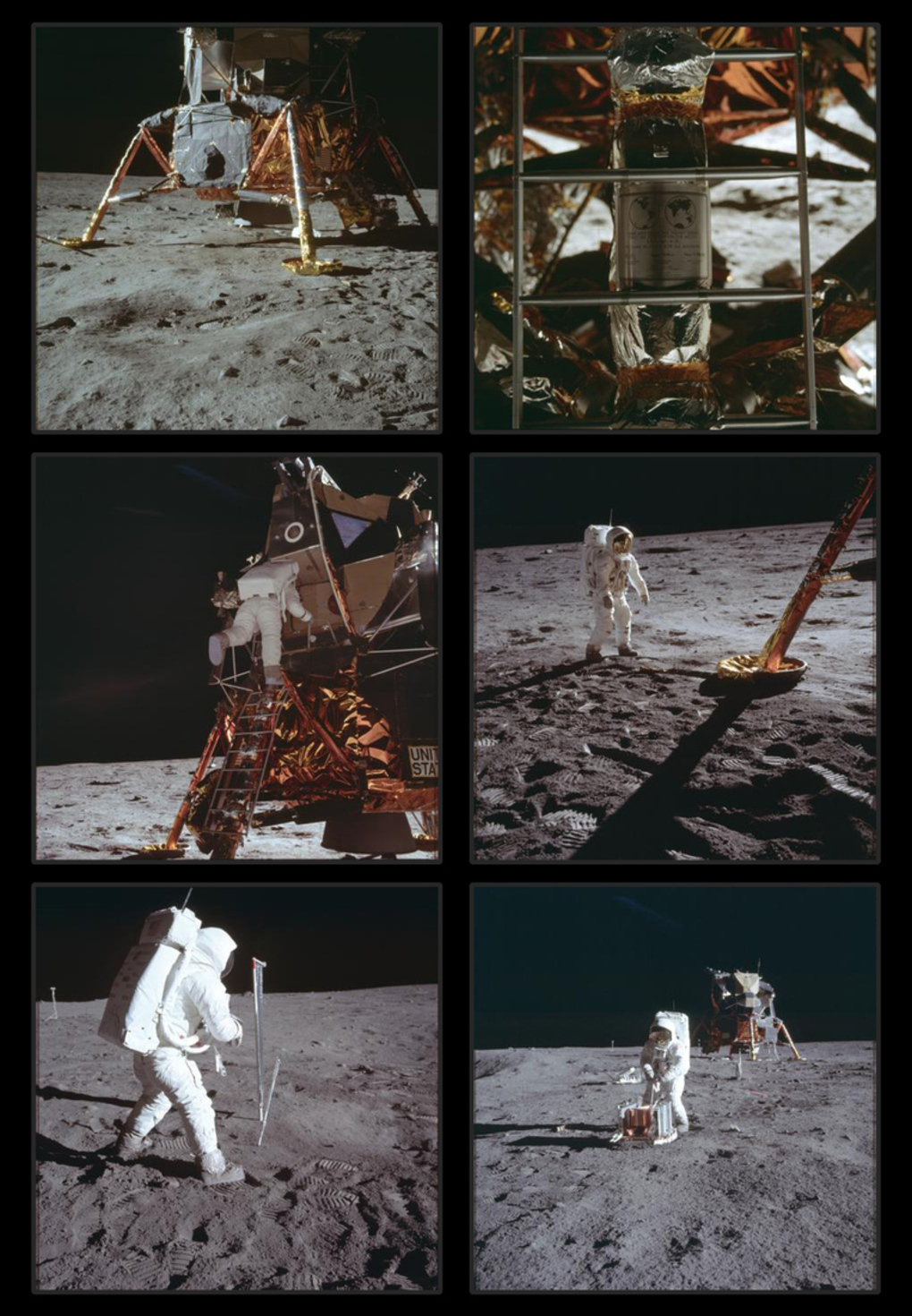 Первые фотографии на Луне