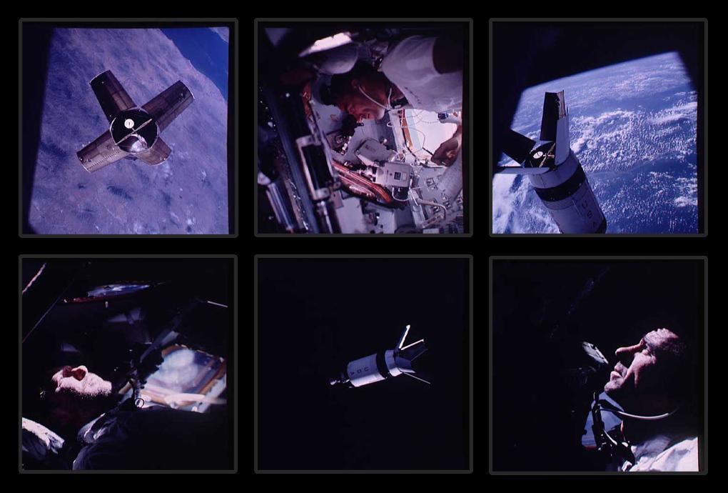 Командир Уолтер Ширра (Walter M. Schirra) на борту Аполлона 7