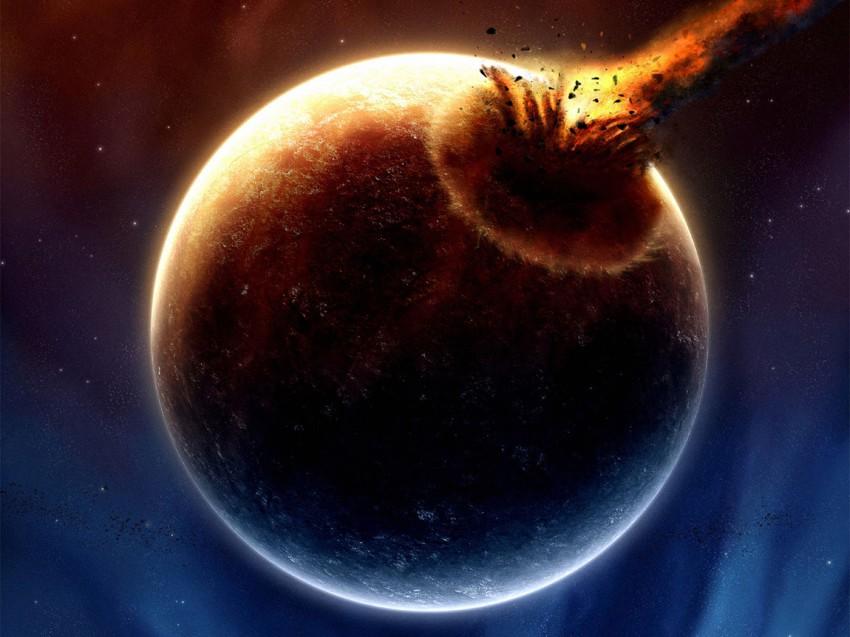 фото, кратер, метеорит, планета