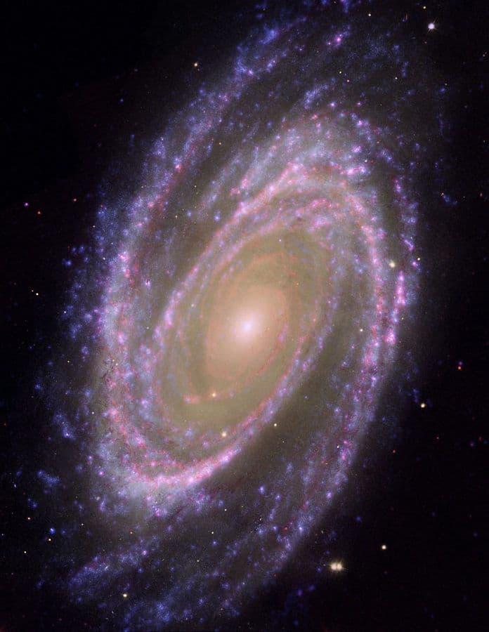 25. Галактика M81 из созвездия Большой Медведицы. Эта галактика хорошо видна даже в телескопы астрономов-любителей.
