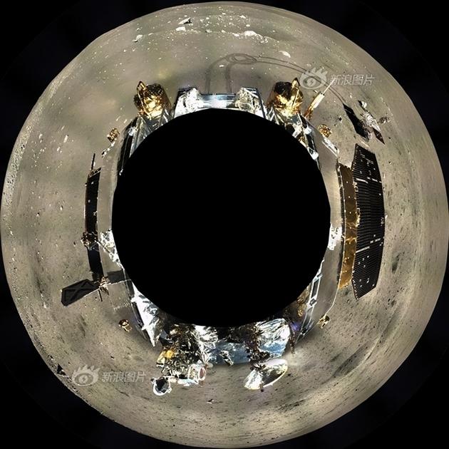 Панорама около посадочного модуля «Чанъэ-3»