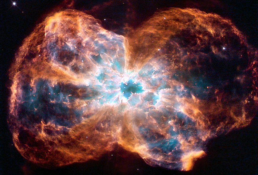 облака испускаемые умирающей звездой