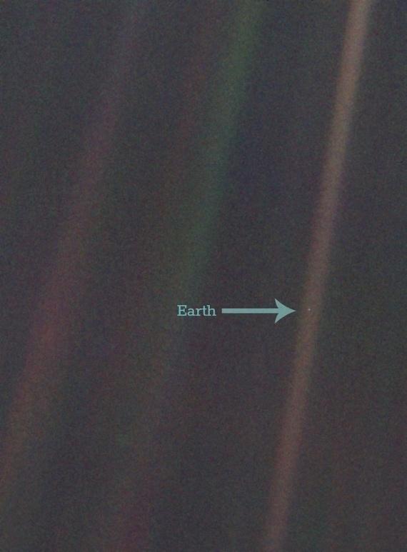снимок Земли Вояджер