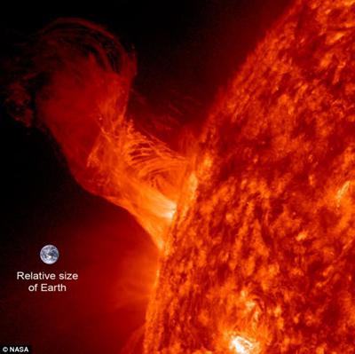 солнечная вспышка земная сторона