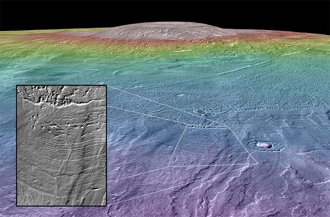 Вулкан на Марсе