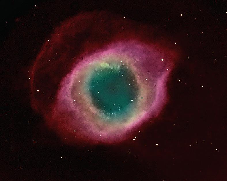 Планетарная туманность Улитка в созвездии Водолея