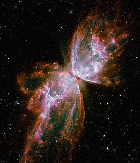 Планетарная туманность Бабочка в созвездии Скорпиона