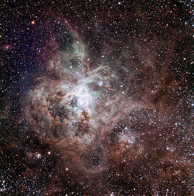 Туманность Тарантул в галактике Большое Магелланово Облако