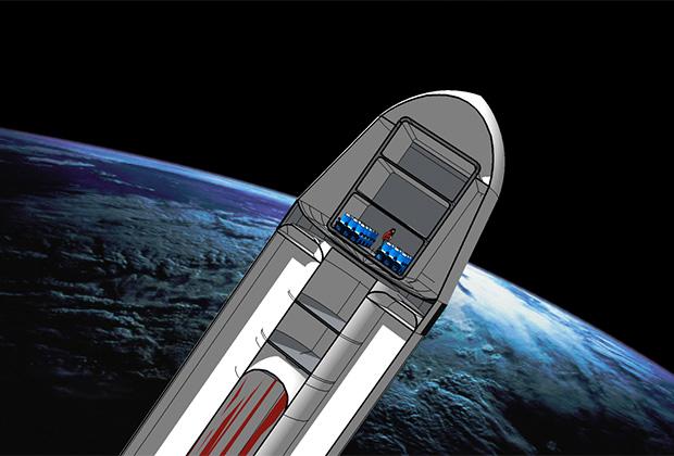 Mars Colonial Transporter в представлении художника