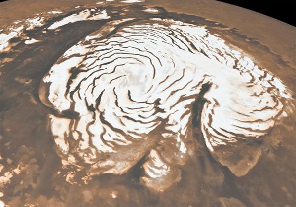 Полярный лед на Марсе